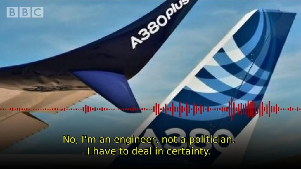 Airbus COO Tom Williams interview BBC Brexit Airbus UK